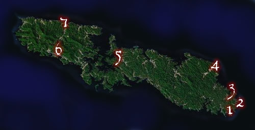 Tsushima Guide Map
