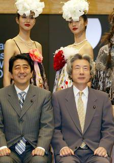 abe and koizumi with chicks.jpg